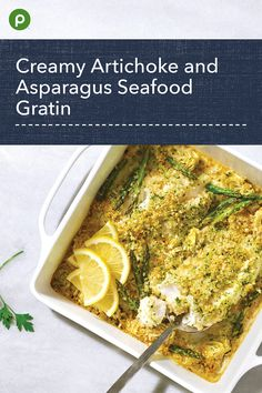 Enjoy this easy, creamy, baked white fish recipe. Seafood Dishes, Seafood Recipes, Cooking Recipes, Keto Recipes, Publix Aprons Recipes, White Fish Recipes, Fermentation Recipes, Zucchini Bread Recipes, Fish Dinner