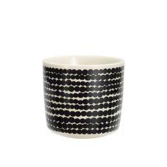 Marimekko - Kaffeebecher ohne Henkel, schwarz / weiß (190) - Einzelabbildung
