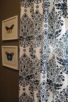 Indian Paisley Damask Stenciled Curtains | Happy Habitat blog