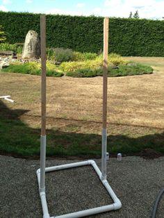 Completed PVC target holder