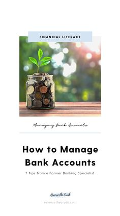 The first step of learning how to save money or pay down debt is knowing how to manage bank accounts. Learn how many bank accounts you need, and how to manage your accounts to improve your personal finances. #money #finance #personalfinance #banking