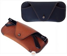 From personal experience, we can safely say that finding a decent and compact sunglass case is a very difficult task. That was until we came across this stylish option by Makr, an elegant sleeve that gives you a solid protection for your frames. Summer Accessories, Leather Accessories, Leather Glasses Case, Leather Projects, Fine Men, Canvas Leather, Leather Working, Leather Craft, Leather Men