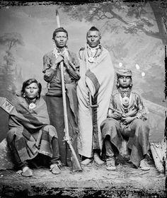 Standing Hawk, Little Chief, Rattling Thunder - Omaha - 1866    Mo-Ha-Nuzhe (Standing Bent) - Omaha - 1868   Gahhi'Ge (The Chief) - Omaha - 1869    Omaha men - 1875   Op-Po-Hom-Mon-Ne (Buck Elk