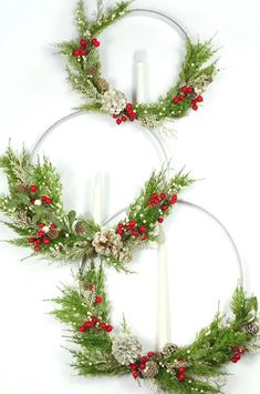 Welcome to Consumer Crafts! Easy Holiday Decorations, Crochet Christmas Decorations, Christmas Swags, Christmas Candle, Christmas Centerpieces, Xmas Ornaments, Holiday Wreaths, Rustic Christmas, Large Christmas Wreath