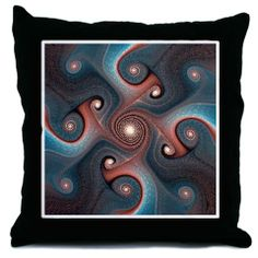 Fractal Art - Gnarly Throw Pillow