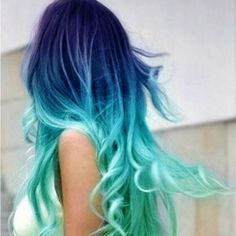 Ombre hair is trending now! Would you rock these colors?