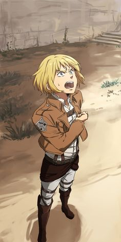 Armin, attack on titan, AOT, SNK