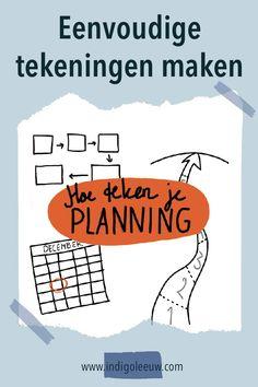 Wat is een goed symbool voor Planning? Drie ideeen voor een eenvoudige tekening bij Planning die je meteen kunt gebruiken bij visueel communiceren. Planning, Template, Signs, Shop Signs, Vorlage, Sign