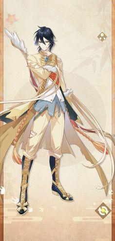 Online Rpg, Food Fantasy, Pretty Drawings, Bishounen, Anime People, Cute Anime Guys, Game Art, Samurai, Character Design
