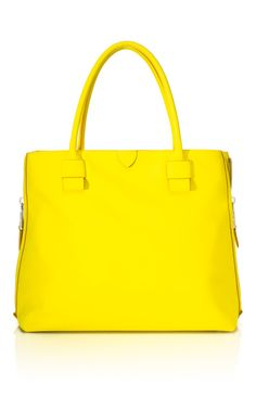 neon-yellow carryall by Marc Jacobs