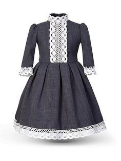 Платье Патриция Sc Alisia Fiori. Цвет серый, серый меланж, белый. Вид 4.
