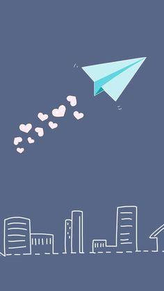 Pretty Paper Airplane iPhone wallpaper - @mobile9