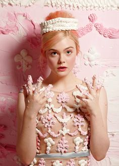 A confectionary Elle Fanning