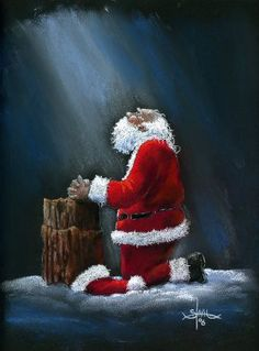 christmas is for celebrating the birth of christ santa is to show us the gift - Jesus Santa