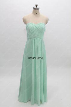 Mint Bridesmaid Dress - Long bridesmaid Dress / Chiffon Bridesmaid Dress / Cheap Bridesmaid Dress / Mint Prom Dress / Prom Dress