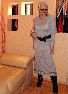 """Купить НАРЯДНОЕ ПЛАТЬЕ """"БЕЖЕВЫЙ ШИК"""" - бежевый, однотонный, Платье нарядное, платье вязаное"""