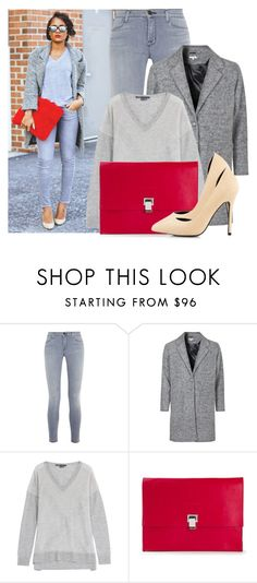 """""""Street Style: Oversized Clutch"""" by streetstylefiles ❤ liked on Polyvore featuring J Brand, Vince, Proenza Schouler and Nly Shoes"""