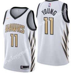 4de7f8f6d34 City Edition Atlanta Hawks White  11 NBA Jersey