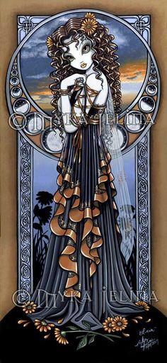"""Lucia"" Gothic Flower  Moon Child Fairy  by Myka Jelina"
