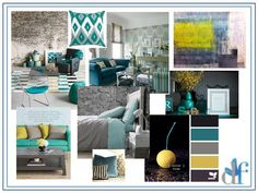 teal, grey yellow living rooms | visit thedesignfairy com