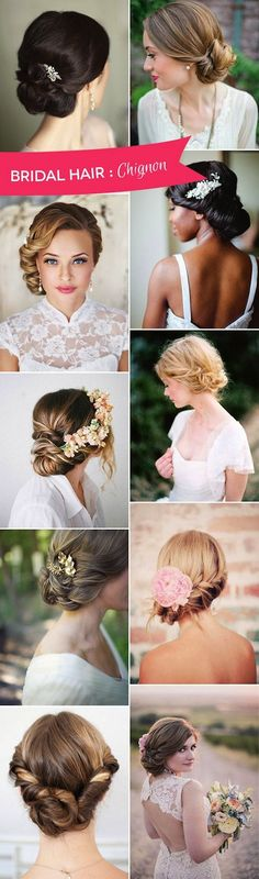 Liking the second one down on the left. 21 Formal Hairstyles for Medium Hair that Will Turn Heads Pictures