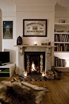 living room fireplace great molding built-in shelves from Sneak Peak Sanna Annukka house Design*Sponge