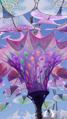 """OZORA Festival, Dádpuszta, Hungary - a psychedelic tribal gathering, this festival dubs its setting as """"paradise."""" Site-specific video content creation and live performances to accompany audio artists are presented throughout the tented stages, perfect for hippie kids who just wanna let loose."""
