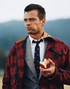 "Josh Duhamel as Ryan Colbert, older brother to Dominic ""Dom"" Mercer and boyfriend of Evangeline ""Eva"" Stone. Josh Duhamel, Gq, Dakota Do Norte, Eric Dane, James Maslow, Zac Efron, Matthew Mcconaughey, Skylar Astin, Jacket Style"