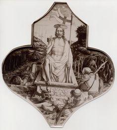 Crivelli, resurrezione.- cuspide polittico San Domenico di Camerino