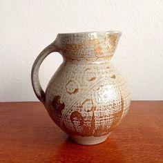 large salt glazed woodfired pottery jug - potter not identified Australian Vintage, Salt, Pottery, Contemporary, Home Decor, Ceramica, Decoration Home, Room Decor, Salts
