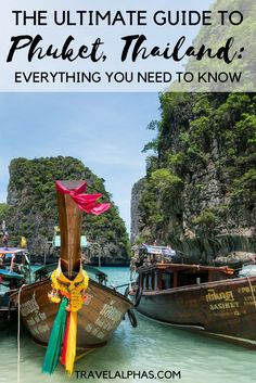 Looking for some Phuket, Thailand inspiration? This guide to Phuket, Thailand will help you choose what to do, what to skip, and where to stay during your trip to Phuket. It includes everything you need to know! Phuket Travel Guide, Thailand Travel Tips, Asia Travel, Thailand Tour Guide, Phuket City, Phuket Resorts, Phuket Food, Thailand Resorts, Beach Resorts