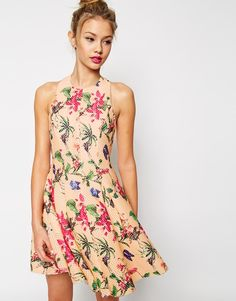 Image 1 of ASOS PREMIUM Pretty Full Skater Dress