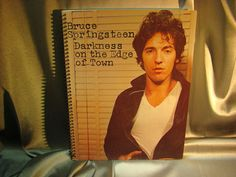 Repurposed Album Cover Drawing Sketch Books  Bruce by ReSpinIt, $12.00
