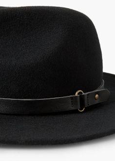 Chapeau fedora en laine | MANGO