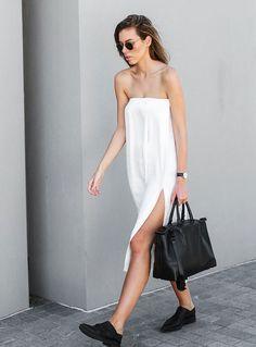 kaity ham look white dress fenda