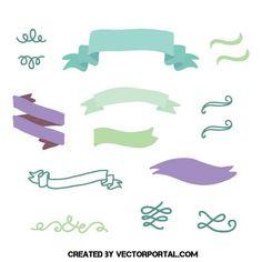 Scrapbook decorative vector elements