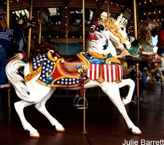 American Power  Carousel horse..outer row stander..older more rare most where converted to jumpers so they could go up and down.....once that was invented...