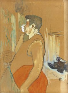 Henri de Toulouse-Lautrec (French, 1864-1901), Monsieur Caudieux, acteur de café concert, 1893. Gouache and pencil on paper, 67.9 x 49.8 cm.