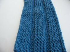 Manly Scarf #7: Hunter Blue | Impeccable Knits: Shifting Stitches