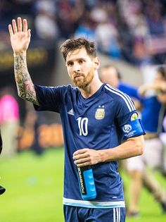 #COPA2016 Lionel Messi of Argentina following the Copa America Centenario Semifinal match between United States and Argentina at NRG Stadium on June 21 2016 in...