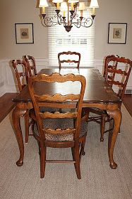 Clover Lane: How To Paint Dining Room Furniture