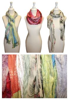 Tied, wrapped or draped... Add a pop of spring with a luxe scarf! #designerdeals