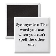 """I tell my students all the time, """"If you don't know how to spell a word, pick another one, one you know how to spell."""""""