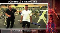 Dumbbell Side Raises for shoulders - BBF 90 Day Fitness Challenge Instruction Video.  Ballistic Body Fitness / Personal Trainer Burbank