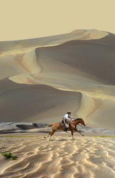 Sand dunes. Race the wind....