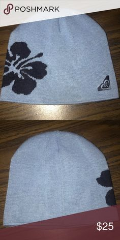 340fcd2229eaf Roxy beanie In great condition. Ceil blue with navy blue Rocky Accessories  Hats