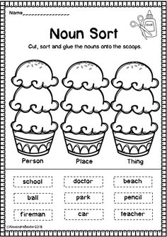 This resource is a selection of 22 Grammar/Parts of Speech worksheets (it is suitable for students in K-4th Grade, depending on their abilities). It features fun and sometimes seasonal worksheets (e.g. summer/winter) for learning about Nouns and Verbs!