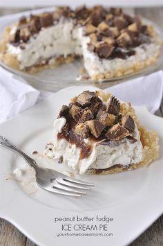 No-Bake Peanut Butter Ice Cream Pie