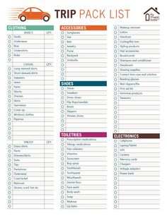 Vacation checklist template printable trip pack list get organized travel packing travel cruise vacation checklist template . Road Trip Checklist, Travel Packing Checklist, Road Trip Packing List, Road Trip Hacks, Travel Planner, Travel List, Packing Tips, Vacation Checklist, Fun Travel