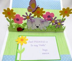 puppy pop up card